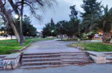 Συντήρηση στο πάρκο Αγ. Κωνσταντίνου και Ελένης  από τον ΟΛΒ