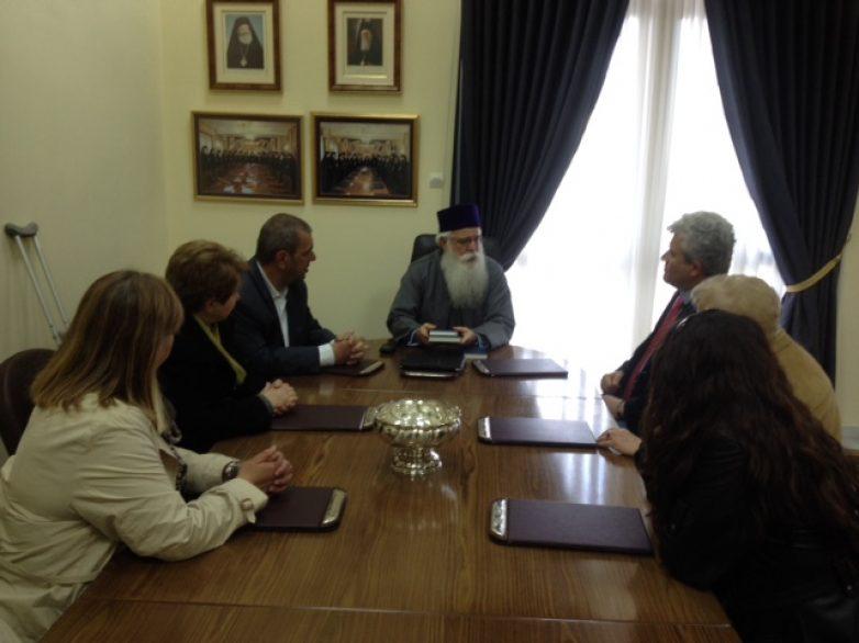 Συνάντηση Ένωσης Ξενοδόχων-Μητροπολίτη Δημητριάδης