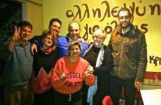Δωρεά κι επίσκεψη του τμήματος μπάσκετ της Νίκης στο «στέκι αλληλεγγύης»