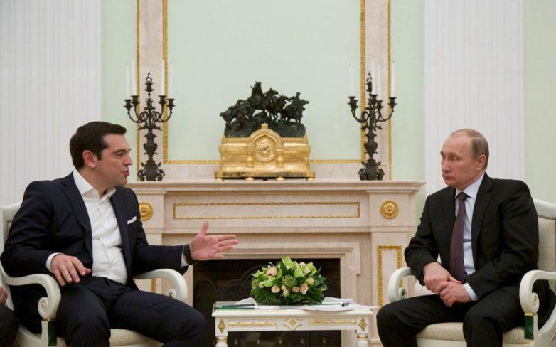 Πούτιν προς Τσίπρα: Να ξαναφέρουμε μπροστά τις εμπορικές σχέσεις μας