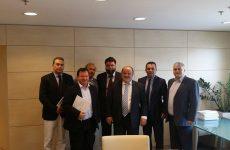 Συνάντηση βουλευτών της Νέας Δημοκρατίας με το Δ.Σ. της ΓΣΕΒΕΕ