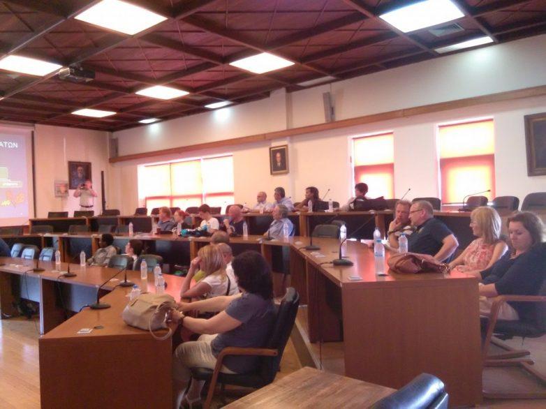 Επίσκεψη ευρωπαίων  καθηγητών –μαθητών  στο Δημαρχείο Βόλου