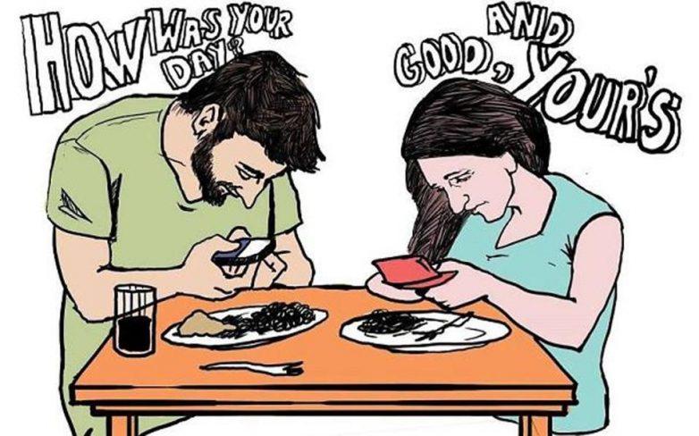 Όταν ο εθισμός στο smartphone γίνεται σκίτσο