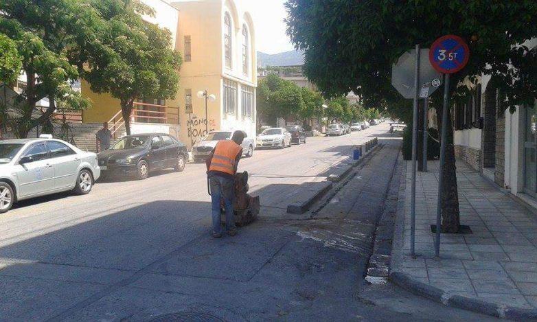 Εργασίες οδοποιίας στο Βόλο