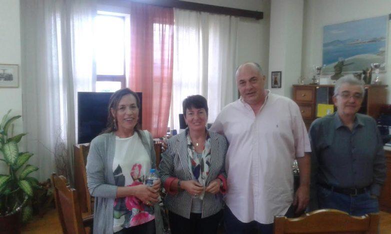 Συνάντηση της  βουλευτή Μαριέτας Καραμανλή με το δήμαρχο Βόλου