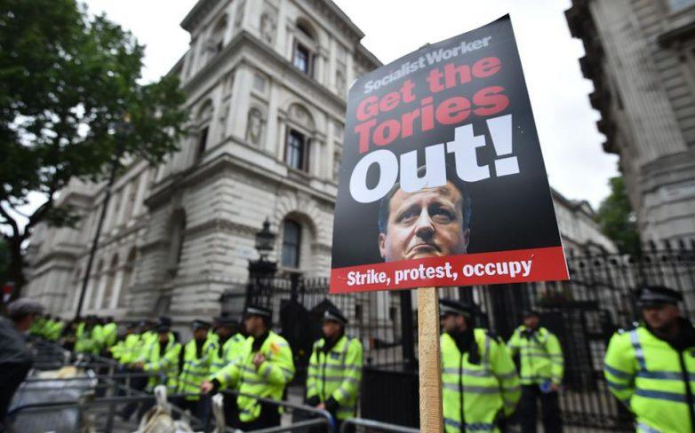 Διαδήλωση κατά της λιτότητας στο κέντρο του Λονδίνου