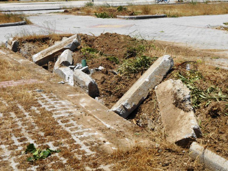 Αναταραχή στη Ν. Ιωνία για την  καταστροφή του πάρκου απέναντι από το Πανθεσσαλικό Στάδιο