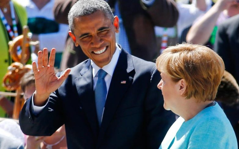 Ομπάμα: «Ευγνώμονες για τη συνεργασία με Μέρκελ»