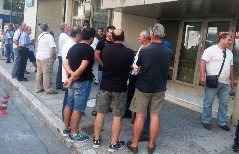 Παράσταση διαμαρτυρίας του ΠΑΜΕ στα γραφεία του ΣΒΘΚΕ