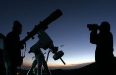 Τελετή λήξης  των μαθημάτων αστρονομίας με αστροβραδιά