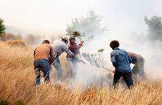 Κάηκε κτήμα με σιτάρι  στη Ν. Αγχίαλο