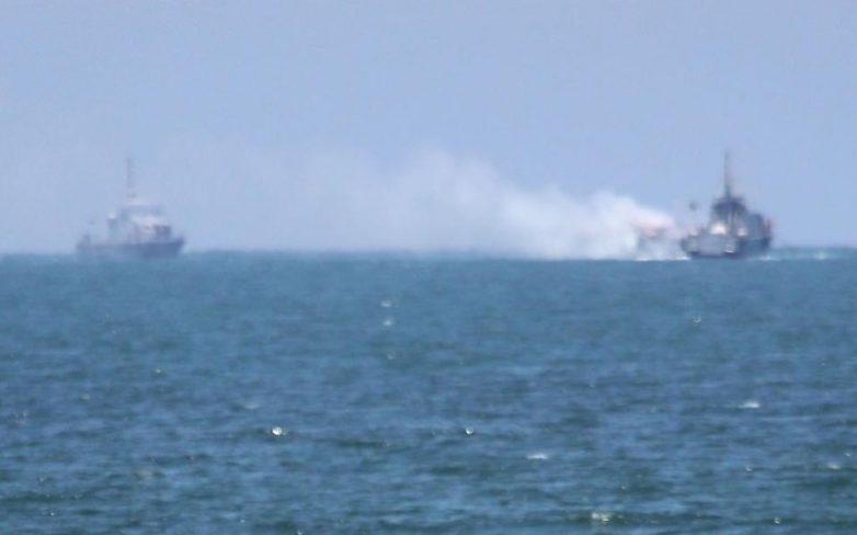 Ανάφλεξη σκάφους από τζιχαντιστές