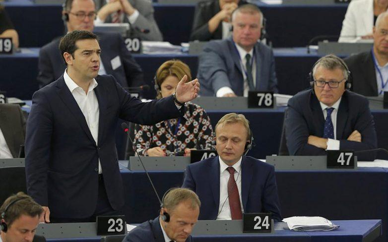 Επεισοδιακή ομιλία Τσίπρα στο Ευρωκοινοβούλιο