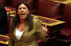 Κωνσταντοπούλου: Πλαστή η ανακοίνωση ΣΥΡΙΖΑ, δυνατή η βίαιη προσαγωγή Στουρνάρα