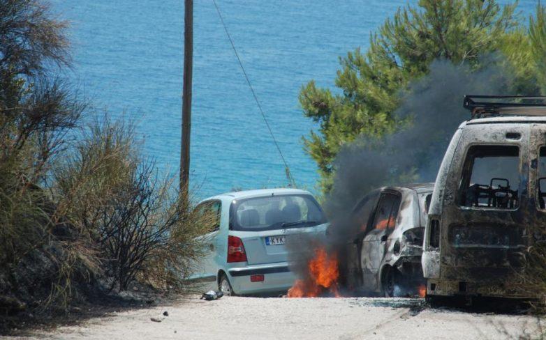 Σύγκρουση αυτοκινήτων προκάλεσε την πύρινη λαίλαπα στην Κέρκυρα