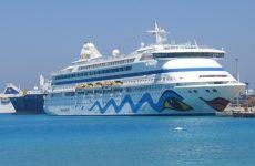 Το κρουαζιερόπλοιο «Aida Aura» στο  Βόλο