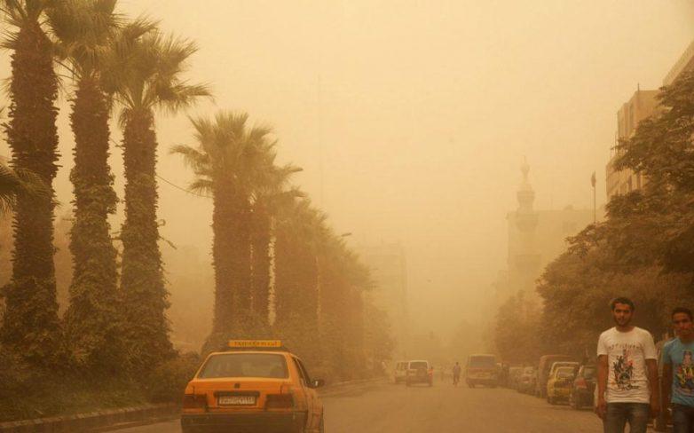 Αμμοθύελλα πλήττει τμήμα της Μέσης Ανατολής