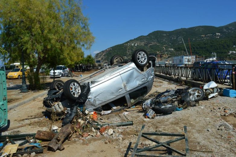 Ορίστηκε το ύψος της αποζημίωσης των πληγέντων στη Σκόπελο από τις πλημμύρες του 2015
