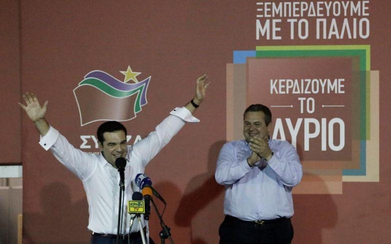 Κυβέρνηση Τσίπρα-Καμμένου μετά την καθαρή νίκη ΣΥΡΙΖΑ