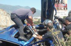 Απανθρακωμένος οδηγός νταλίκας στην  Ε.Ο.  κοντά στη Σούρπη