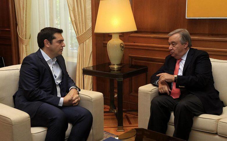 Γκουτιέρες: «Στενότερη συνεργασία με την ελληνική κυβέρνηση στο θέμα των προσφύγων»