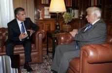 Ο Κ. Αγοραστός στον Πρόεδρο της Δημοκρατίας Πρ. Παυλόπουλο