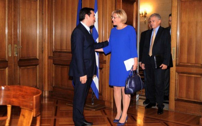 Δήλωση της Επιτρόπου Κορίνα Κρέτσου μετά τη συνάντησή της με τον Αλέξη Τσίπρα