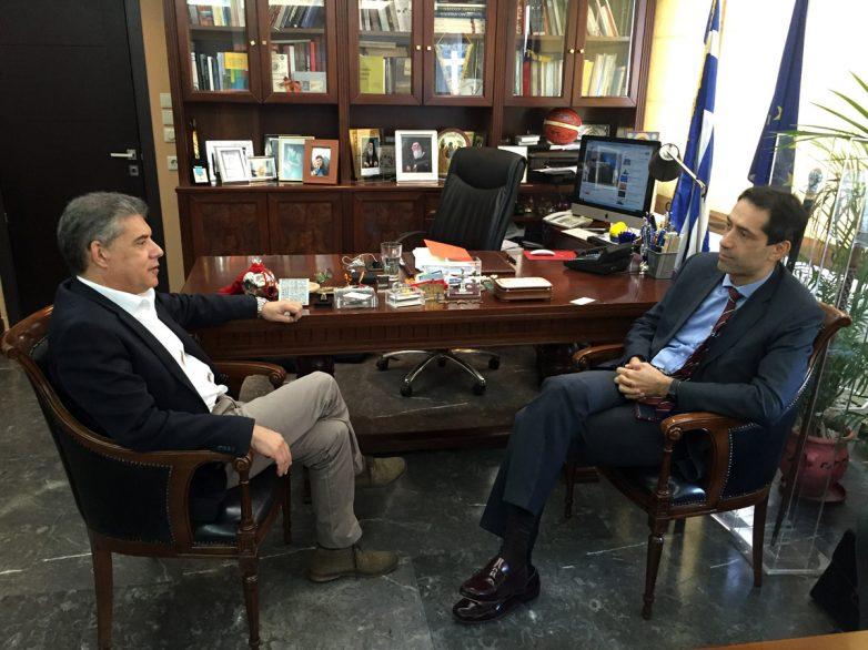 Επίσκεψη του πρέσβη του Αζερμπαϊτζάν στον περιφερειάρχη Θεσσαλίας