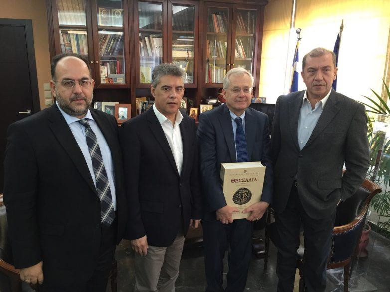 Επίσκεψη γενικού πρόξενου της Γερμανίας στην Ελλάδα, στον περιφερειάρχη Θεσσαλίας
