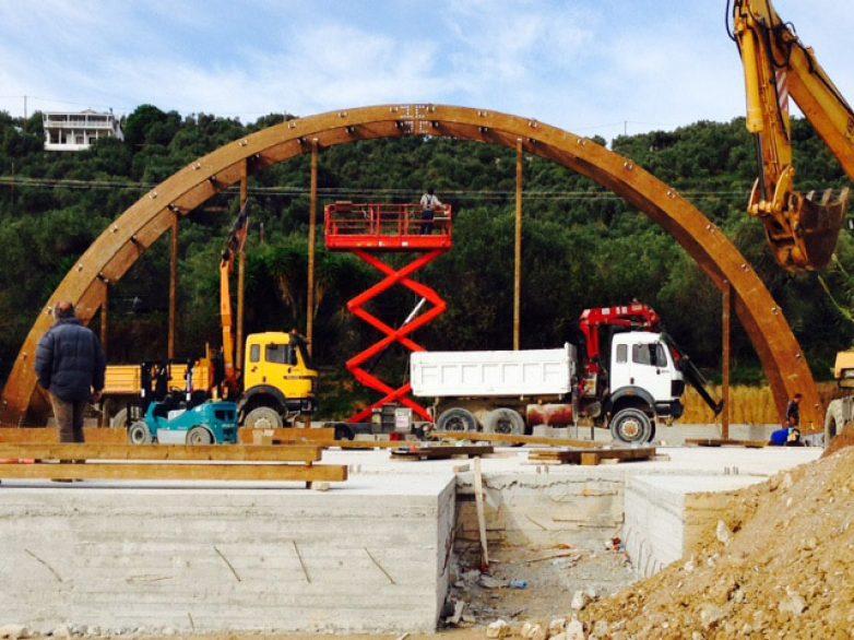Μέχρι τέλος του έτους θα ολοκληρωθεί το κλειστό γήπεδο μπάσκετ της Σκιάθου