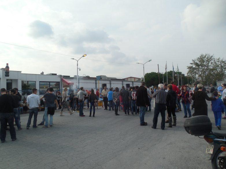 Εκδήλωση  αλληλεγγύης στους εργάτες της Coca Cola