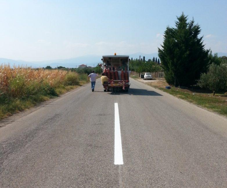 Τεχνικές εργασίες σε τμήματα του οδικού δικτύου Μαγνησίας