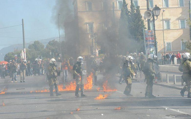 Δύο προσαγωγές για τα επεισόδια στο κέντρο της Αθήνας