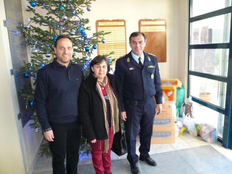 Προϊόντα σε κοινωφελή ιδρύματα προσέφερε η Γενική  Περιφερειακή  Αστυνομική Διεύθυνση Θεσσαλίας