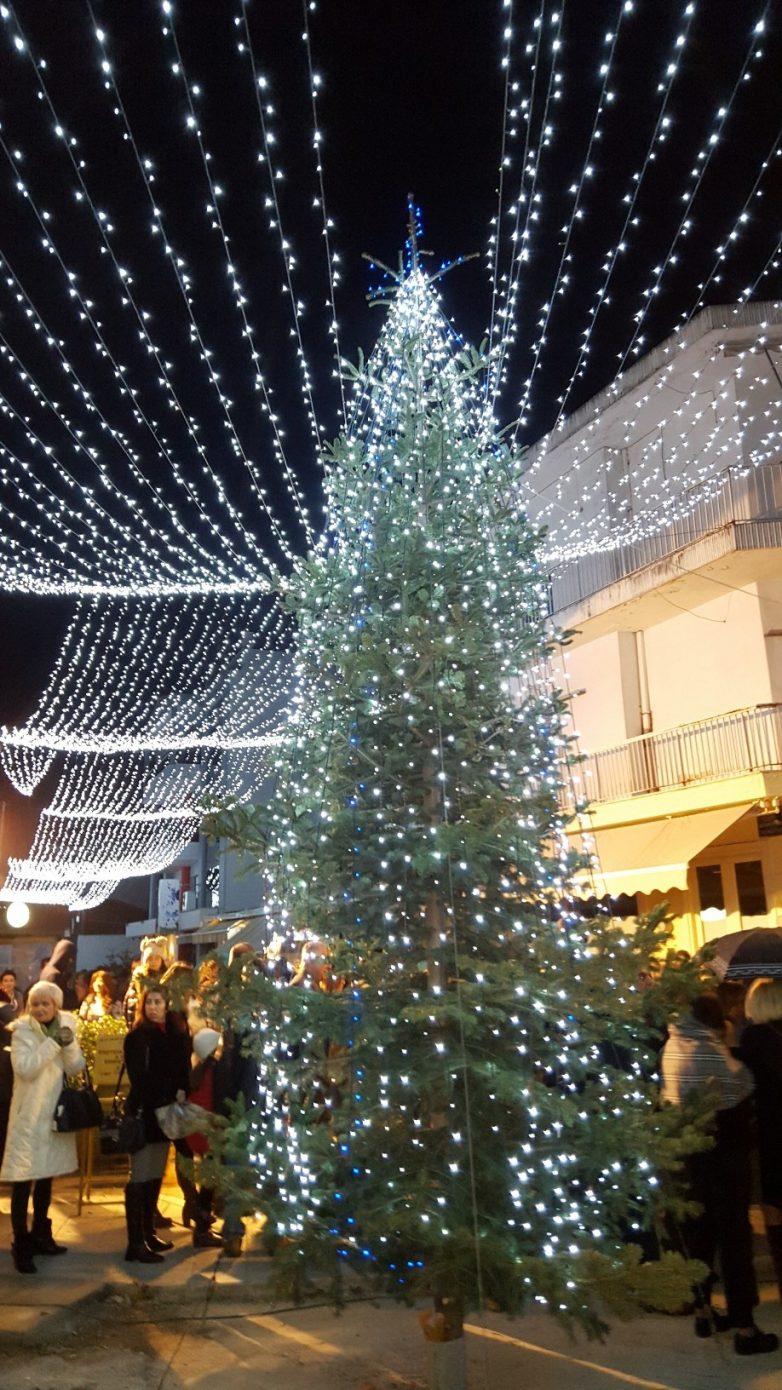 Σε εορταστικό κλίμα το άναμμα του χριστουγεννιάτικου δέντρου στον πεζόδρομο Αλμυρού