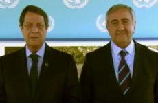 Ιστορικό ευχετήριο μήνυμα Αναστασιάδη – Ακιντζί προς τον κυπριακό λαό