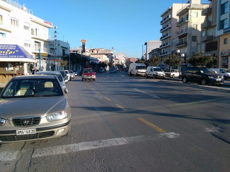 Διακοπή κυκλοφορίας λόγω κατασκευής κυκλικού κόμβου στο Δημαρχείο Βόλου