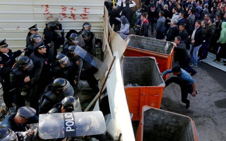 Ενταση σε συγκέντρωση διαμαρτυρίας κατά του Εντι Ράμα