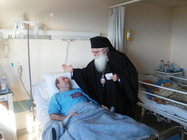 Ο Μητροπολίτης Δημητριάδος στο Γηροκομείο και το Νοσοκομείο Βόλου