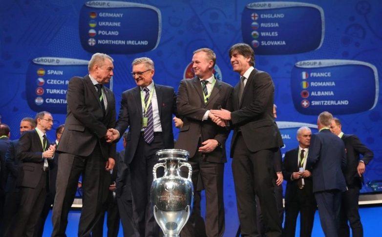 Η κλήρωση των ομίλων του Euro 2016