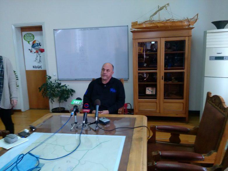 Νέα επίθεση προς τον ΣΥΡΙΖΑ εξαπέλυσε σήμερα ο δήμαρχος Βόλου Αχ. Μπέος