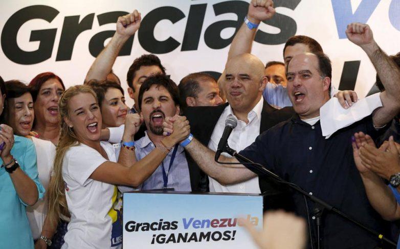 Συντριπτική νίκη της Κεντροδεξιάς στη Βενεζουέλα