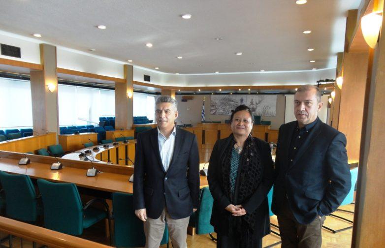 Συνάντηση περιφερειάρχη Θεσσαλίας με την Γενικό Πρόξενο των ΗΠΑ στη Θεσσαλονίκη Ρεμπέκα Φόνγκ