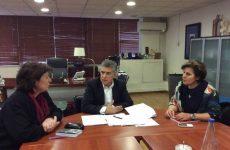 Συνάντηση Κώστα Αγοραστού με τη Γενική Γραμματέα Ισότητας