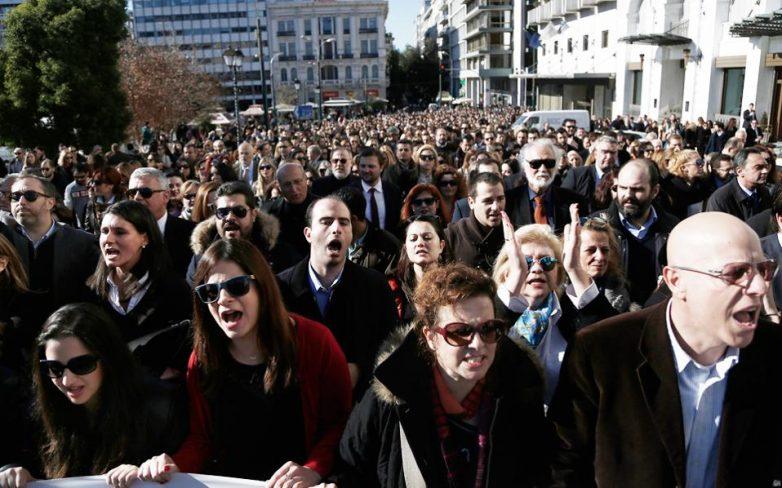 Ηχηρό «παρών» στη διαμαρτυρία των δικηγόρων
