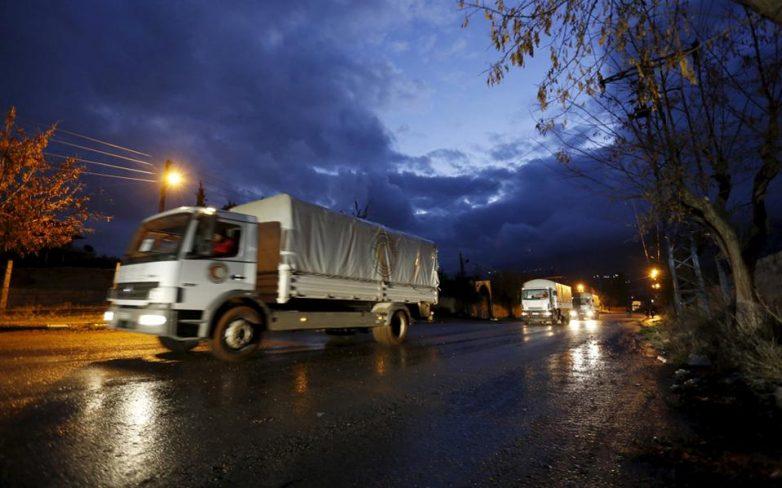 Συρία: Αυτοκινητοπομπές με βοήθεια εισήλθαν στην Μαντάγια