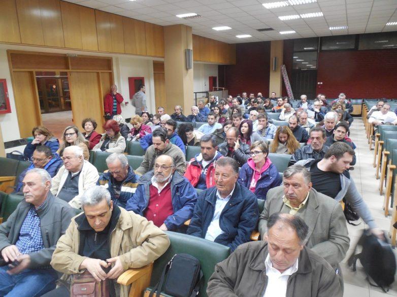Μαζική  η σύσκεψη σωματείων και φορέων  ενάντια στο νόμο – λαιμητόμο της κυβέρνησης