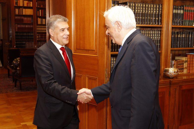 Συνάντηση  προέδρου  Δημοκρατίας Προκόπη Παυλόπουλου-περιφερειάρχη Θεσσαλίας Κων. Αγοραστό
