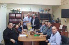 Επίσκεψη του νέου διευθυντή Δευτεροβάθμιας Εκπαίδευσης Μαγνησίας στο Δήμαρχο Ρήγα Φεραίου