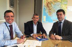 Στα γραφεία της Ύπατης Αρμοστείας του ΟΗΕ για τους πρόσφυγες στην Αθήνα ο Κώστας Αγοραστός